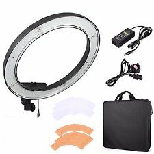 "240 LED 18"" 5500K Dimmable Stepless Adjustable Ring Light Camera Video Portrait"