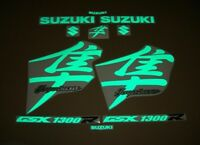 Hayabusa GSX1300R K1-k7 light reflective green decals stickers graphics set kit