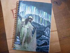 Angel Fairy Glitter Art Deco Style Hand Made Notebook Blank Plain Spiral Bound
