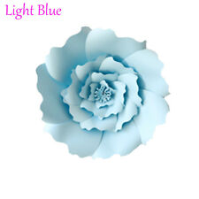 20/30cm DIY Paper Flowers Backdrop Decor Kid Birthday Party Wedding Favor Light Blue 2pcs-20cm