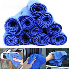 Durable 10pc Blue Microfiber Towel Car Home Clean Wash Kitchen Washing Absorbent