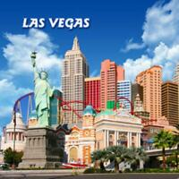 Las Vegas Nevada Foto Magnet Epoxid Amerika USA Souvenir,8x8 cm