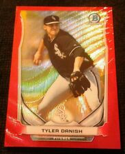 2014 Bowman Chrome TYLER DANISH Red Wave Refractor SSP #22/25 **WHITE SOX**