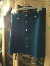 New York & Company turquoise skirt size 4
