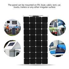 100W 18V Solar Panel Con Cable Batería Cargador Placa Para RV Barco Coche Camión