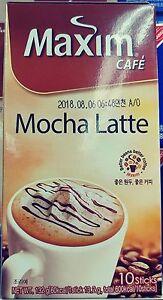 Maxim Cafe Mocha Latte Korea Instant Flavored Coffee 13g X 10 Sticks