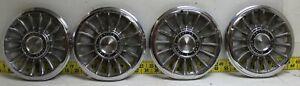 "OEM Set of 4 14"" Hub Caps Wheel Covers 09704036 1965 Pontiac GTO LeMans (3159)"