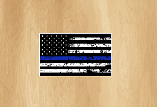 Police Thin Blue Line Decal American Flag sticker Law Enforcement Officer USDM