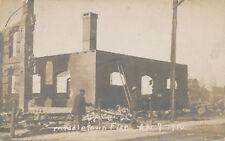 Middletown PA * Fire Scene Apr. 9, 1910  YMCA  RPPC * Dauphin Co.