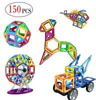 150 Piece Magnetic Tiles magnetic Building Blocks Toys for Kids