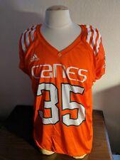 University of Miami Hurricanes adidas Orange #35 Practice Jersey Game Worn XL