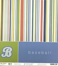 Double Sided Cardstock Baseball 12 x 12 scrapbook paper multi-colored