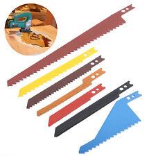 Jig Saw Blades 8pc Sabre Scroll Assortment Set For Wood Metal Steel Drywall