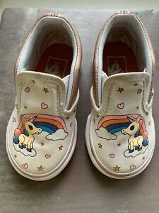 vans classic slip On Unicorn Toddler 4.5