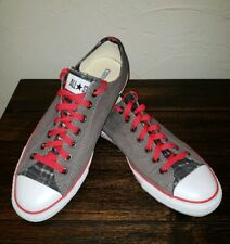 CUSTOM OOAK Converse Chuck Taylor All Stars 7Jun2013 Date Red Gray Black White