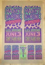 1998 Marky Ramone - Silkscreen Concert Poster Proof Sheet by Mark Arminski