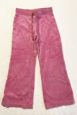Lilly Pulitzer Girls Bright Pink Velour Sweatpants Sz 4T EEUC