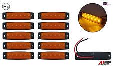 10x 12v LED amber orange side marker lights lamps for trailer truck lorry E-mark