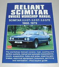 Reparaturanleitung Reliant Scimitar 2.5 / 3.0 GT + GTE, Baujahre 1968 - 1979