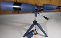 Vintage TASCO 8TE 60 X Power Spotting Scope Telescope w/ Case Blue Finish NR!