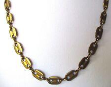 collier bijou vintage rétro couleur or patiné chaîne grain de café  498