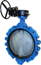 6 CPS Lug Style DI Butterfly Valve, 316SS Disc, EPDM, Gear Operated
