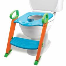 Potty Toilet Training Seat w/ Non-Slip Stepladder & Easy-Grip Handles (3-in-1)