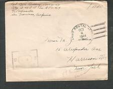 WWII censor cover Sgt Bill Reilling APO 954 Ft Kamehameha Hawaii to Haririson NY