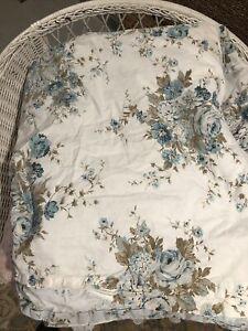 SIMPLY SHABBY CHIC Aqua Rose Floral  Twin Duvet Cover & Sham set