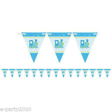WELCOME LITTLE BOY FLAG BANNER ~ Baby Shower Party Supplies Decorations Paper