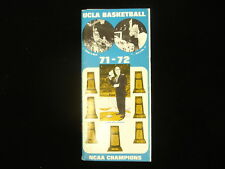 1971-72 UCLA Bruins Basketball Media Guide