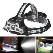 Survival 7 LED T6 Headlamp USB Rechargeable 18650 Headlight Torch Lamp New 2018