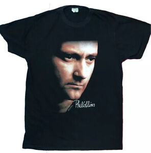 PHIL COLLINS But Seriously 1990 Vintage Tour T Shirt Official Size Large GENESIS