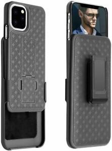 "for iPhone 11 Pro Max (6.5"") Black Holster Swivel Belt Clip Hard Slim Case Cover"