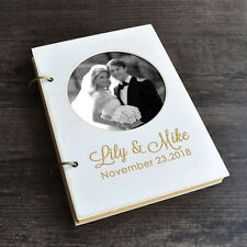 Personalized Wedding Guestbook Photo Wedding Guest Book Photo Book Calligraphy