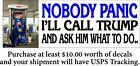 Anti Joe Biden Gas Shortage NOBODY PANIC Bumper Sticker 8.6' x 3' Sticker