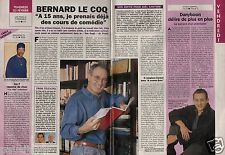 Coupure de presse Clipping 1996 Bernard Le Coq (1 page 1/3) famille formidable