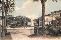 CPA 06 - MENTON - Monument Commémoratif de la Réunion de Menton à la France