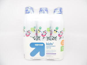 Up&Up Kids' Sunscreen Spray Continuous Spray SPF 50 Reef Friendly 3pk / 16.5 oz