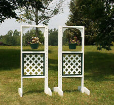 Horse Jumps Hanging Basket Wooden Wing Standards 6ft/Pair - Color Choice #212