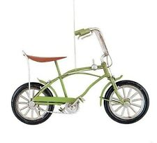 """GALLERIE II METAL CRAFT 6"""" GREEN STING RAY BIKE BICYCLE CHRISTMAS ORNAMENT"""