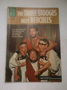 DELL: MOVIE CLASSIC: THE THREE STOOGES MEET HERCULES, PHOTO COVER, 1962, VF-!!!