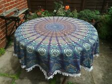 "Indian Round Mandala Table Cloth Handmade Cotton Yoga Mat Tapestry Bohemian 72"""
