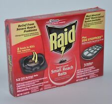 NEW RAID DOUBLE CONTROL SMALL ROACH 12 BAITS 3 STERILIZERS SEVERE EGG STOPPERS