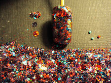 glitter mix nail art acrylic gel    PARTY IN THE U.S.A.