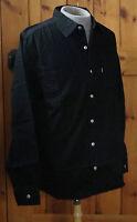 NWT MEN'S LEVI'S DENIM SHIRT BLACK COTTON 2 Pockets Red Tab $52 Sizes M L XL 2XL