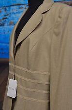 NWT Escada Size 42 Cream Blazer Lace Trim Logo Buttons Jacket Wool Bld 10-12 US
