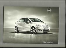 MERCEDES Benz b classe b160, b180, b180cdi, b200cdi + blue Efficiency brochure 2010