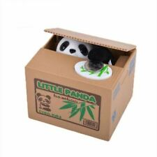 Automated Cute Panda Piggy Bank Box Stealing Coin Saving Money Box KIDs Gift US