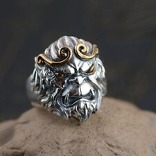 925 Sterling Silver The Monkey King men's  ring rings jewelry  Thailand P881